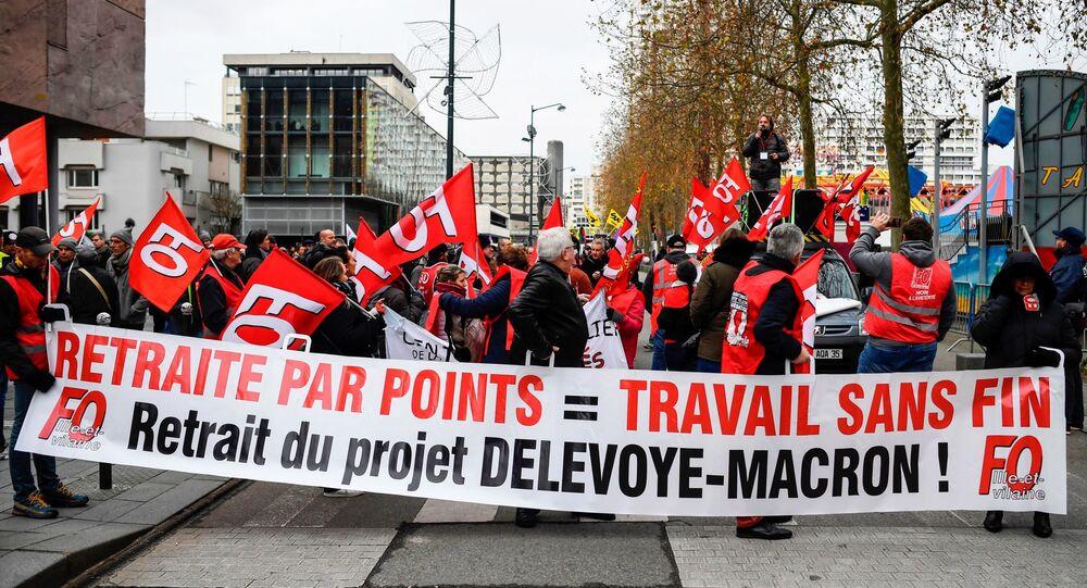 Des manifestants à Rennes, le 10 décembre 2019