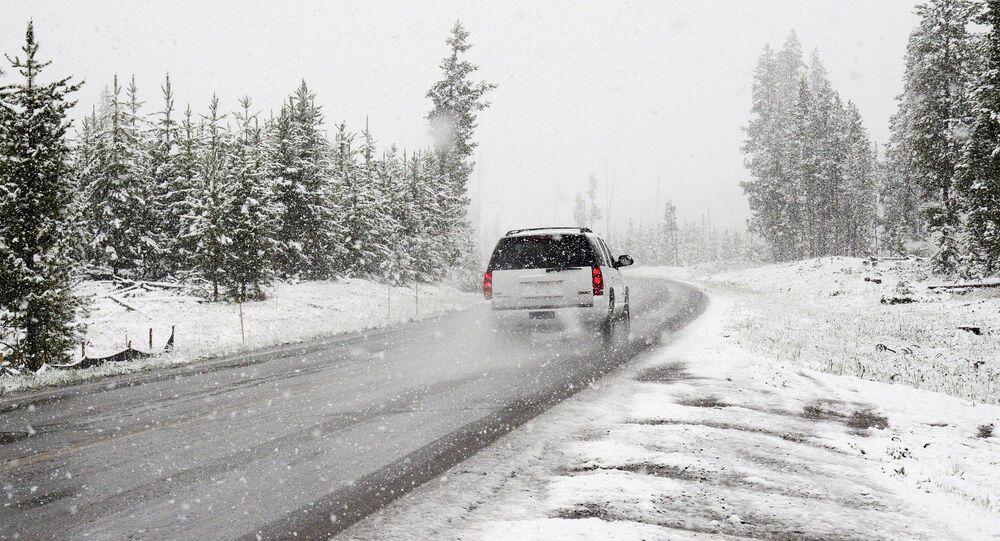 Une tempête de neige, image d'illustration
