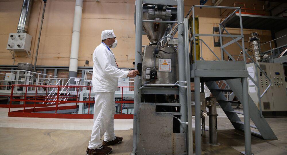Dans une usine chimique