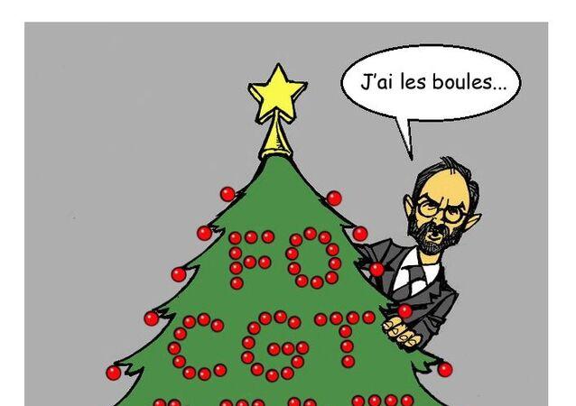 Grèves: «la menace sur Noël est inacceptable» pour Édouard Philippe