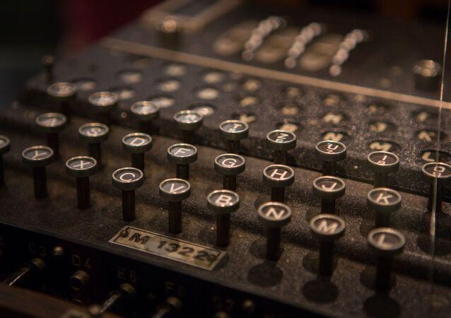 Clavier d'une machine de cryptage Enigma