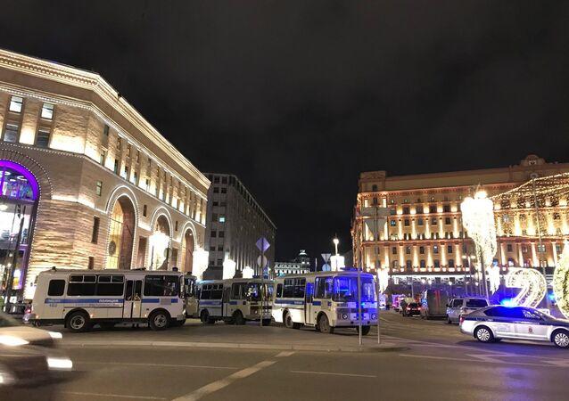 Images après la fusillade près du siège du FSB à Moscou