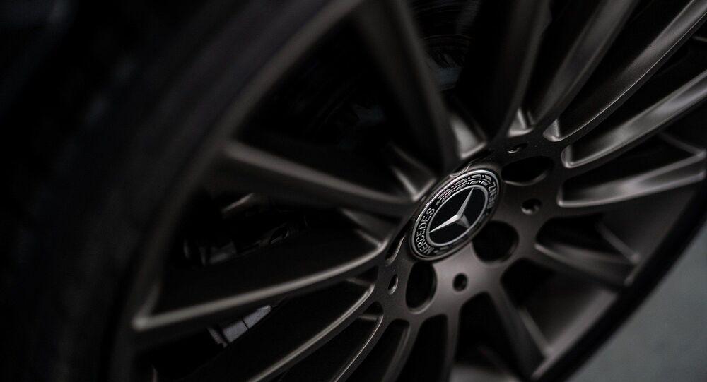Un roue de Mercedes (image d'illustration)