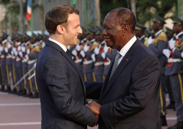 Emmanuel Macron et Alassane Ouattara à Abidjan