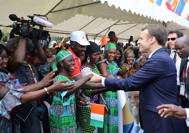Emmanuel Macron en visite en Côte d'Ivoire