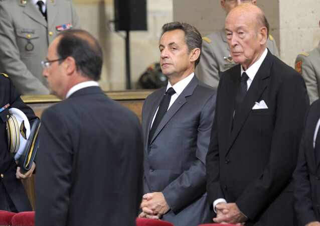 François Hollande, Nicolas Sarkozy et Valéry Giscard d'Estaing
