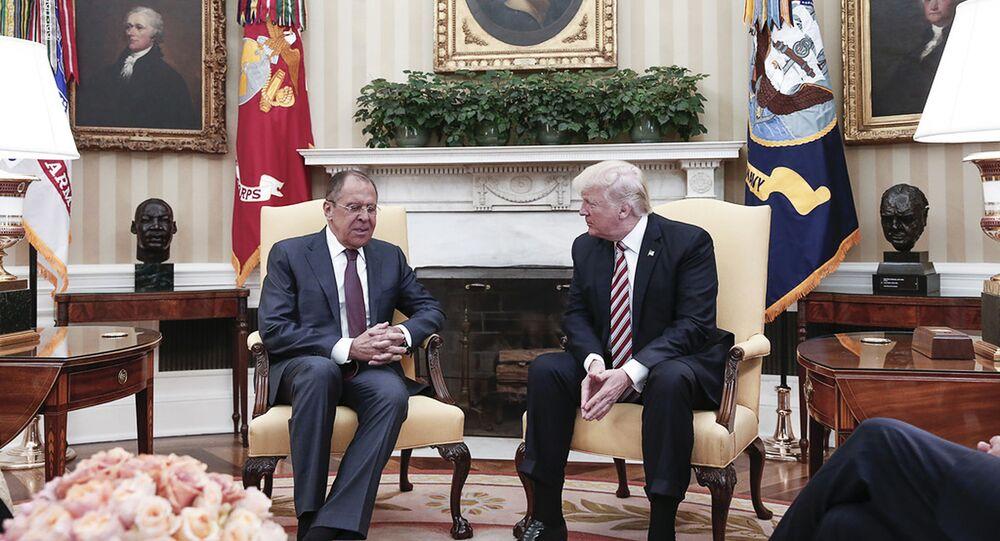Sergueï Lavrov et Donald Trump (photo d'archives)