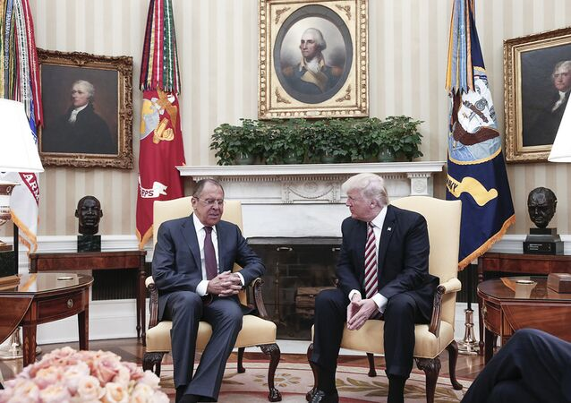 Sergueï Lavrov et Donald Trump (photo d'archives)