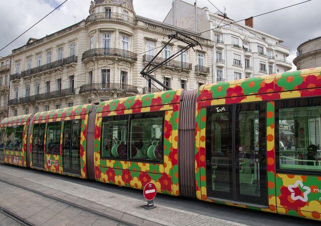 Un tramway à Montpellier