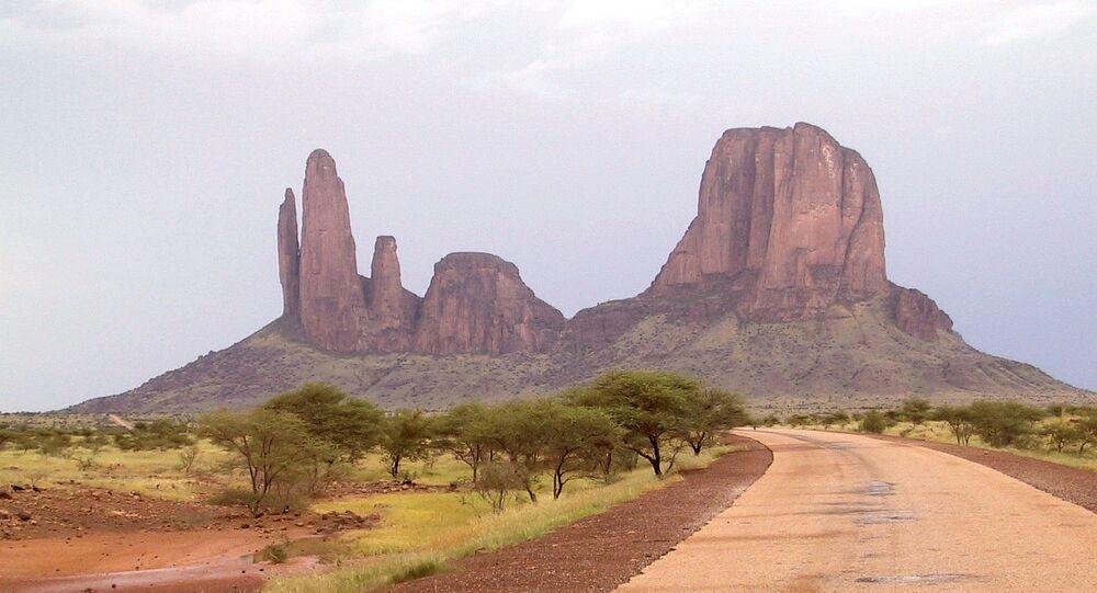 Landscape in Hombori, Mali
