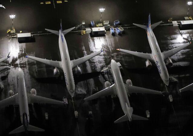 Des avions Boeing 737 Max garés à Seattle