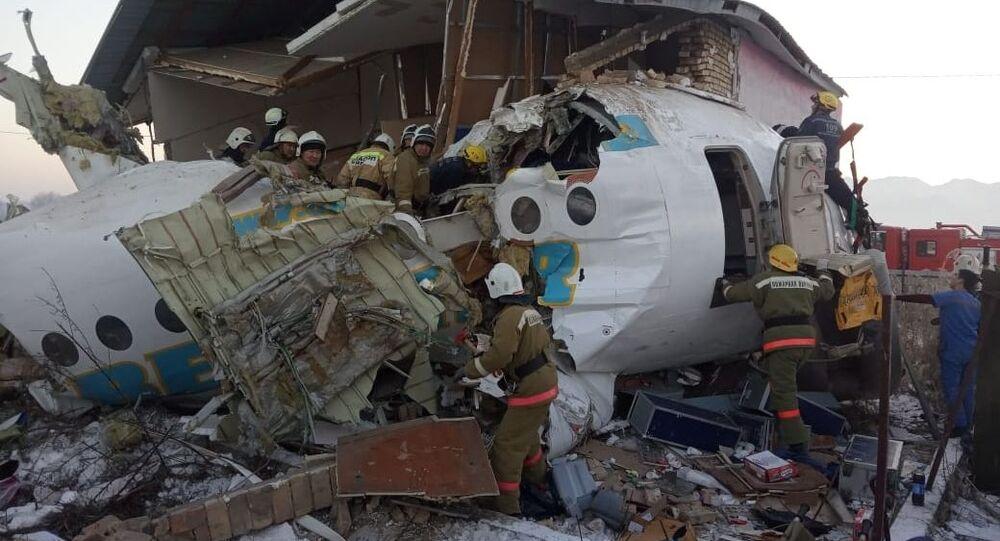 Crash d'un avion de ligne au Kazakhstan