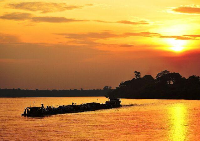 La ville de Kisangani en République démocratique du Congo en Afrique centrale.