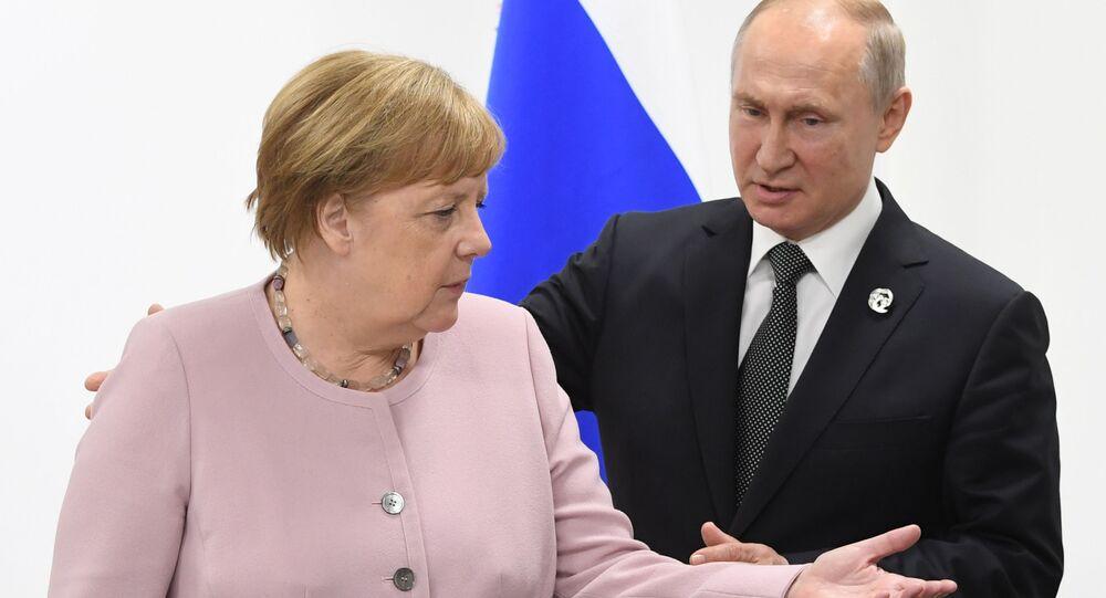 Angela Merkel et Vladimir Poutine (photo d'archives)