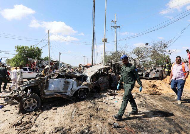 L'attentat à la voiture piégée à Mogadiscio le 28 décembre