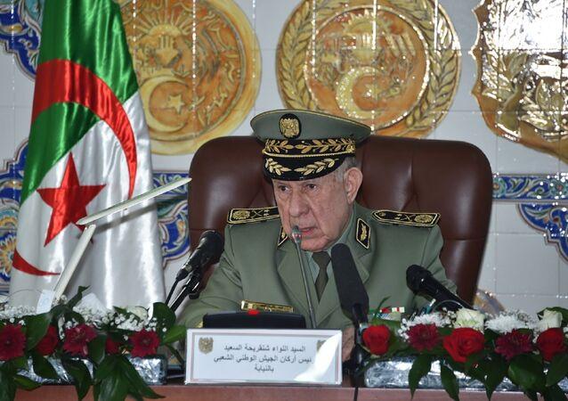 Le général de corps d'armée Saïd Chanegriha, chef d'état-major de l'Armée nationale populaire (ANP) algérienne