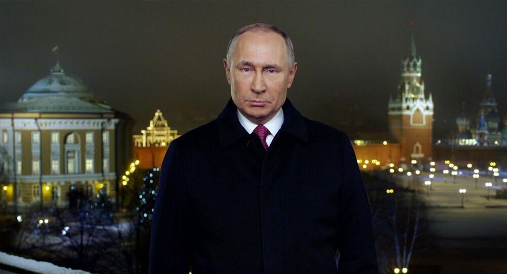 Poutine présente à ses compatriotes ses vœux du Nouvel An (photo d'archives)