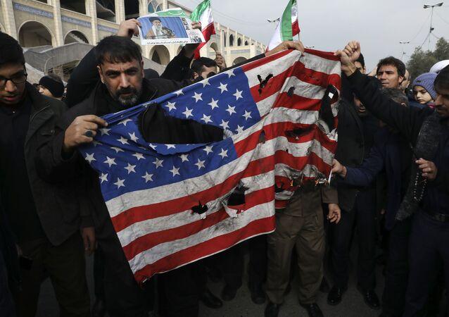 Une manifestation en Irak après la frappe US qui a tué le général iranien Qassem Soleimani à Bagdad