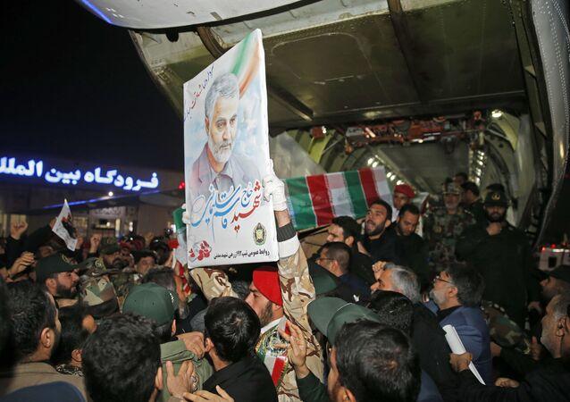 hommage au général iranien Qassem Soleimani à Ahvaz
