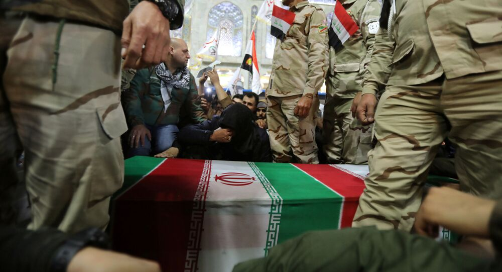 Mourners attend the funeral procession of the Iranian Major-General Qassem Soleimani, head of the elite Quds Force of the Revolutionary Guards, and the Iraqi militia commander Abu Mahdi al-Muhandis, who were killed in an air strike at Baghdad airport, in Kerbala, Iraq, January 4, 2020