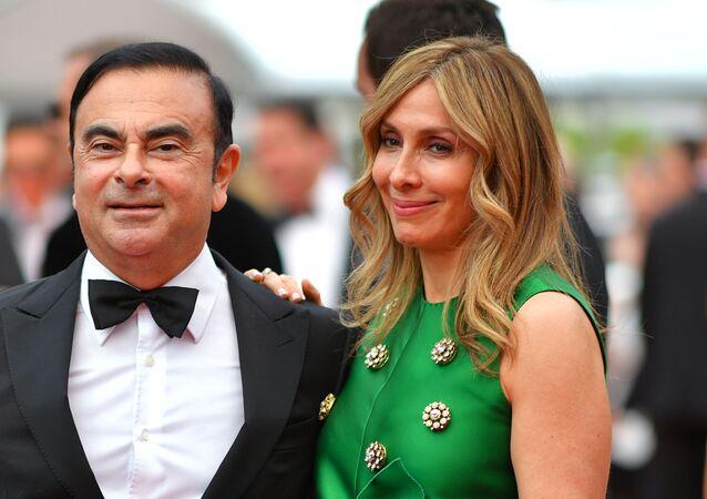 Carlos Ghosn et sa femme Carole