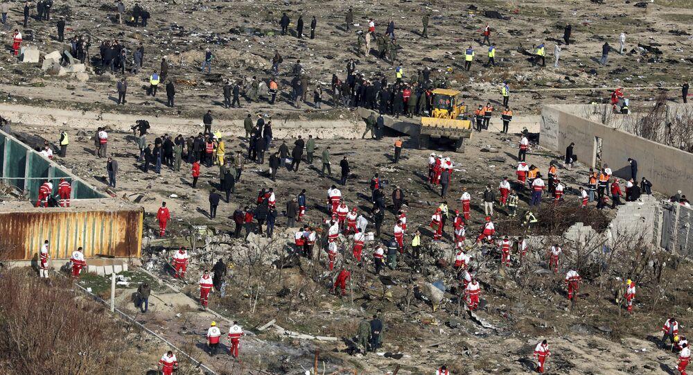 le lieu du crash du Boeing 737 de la compagnie Ukraine International Airlines