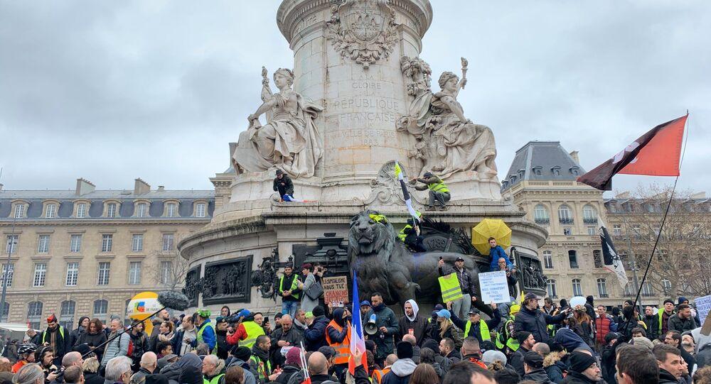 4ème grande journée de mobilisation contre la réforme des retraites à Paris, le 9 janvier