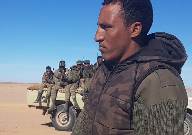 Combattants de l'armée sahraouie.