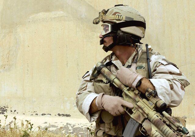 Un soldat américain en Irak
