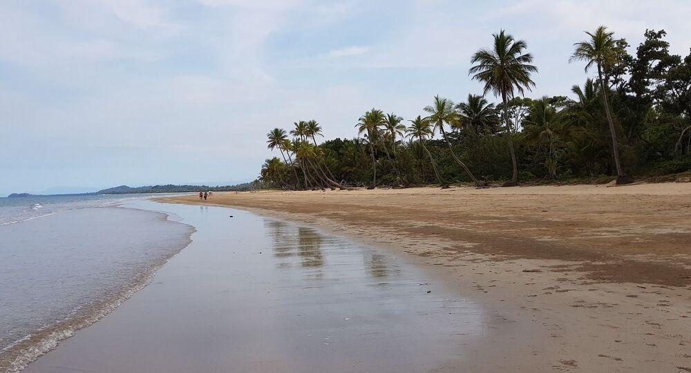 Une plage, image d'illustration
