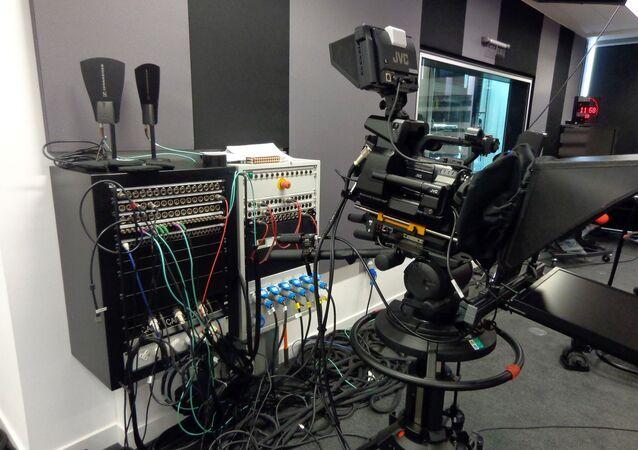 Un studio de télévision