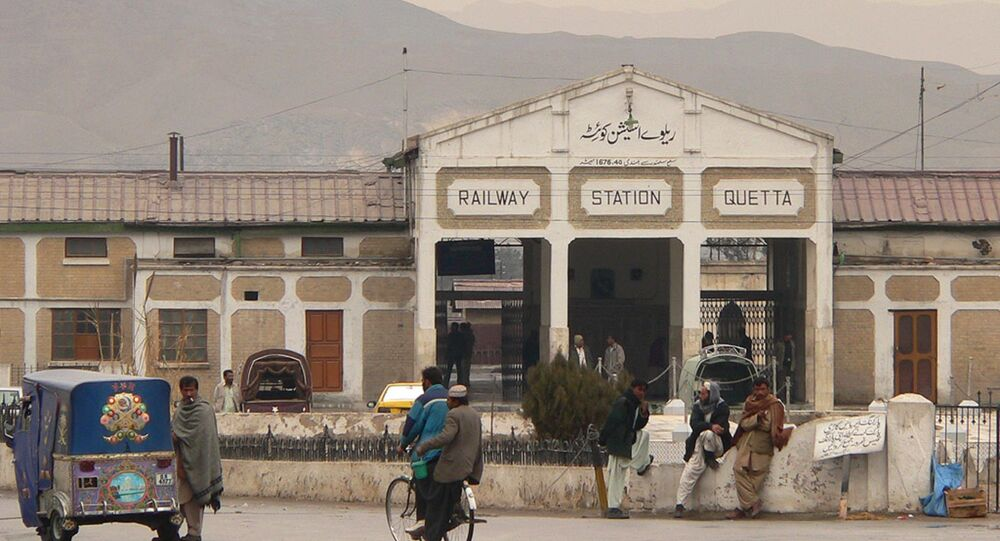 Station Quetta au Pakistan