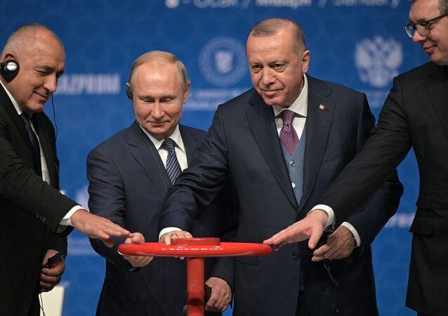 Cérémonie de lancement du Turkish Stream