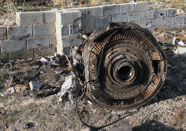 Un moteur du Boeing 737 ukrainien abattu en Iran