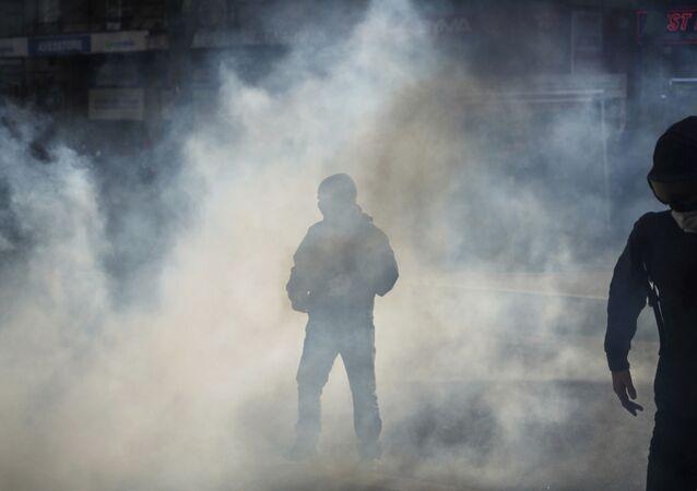 Du gaz lacrymogène, image d'illustration