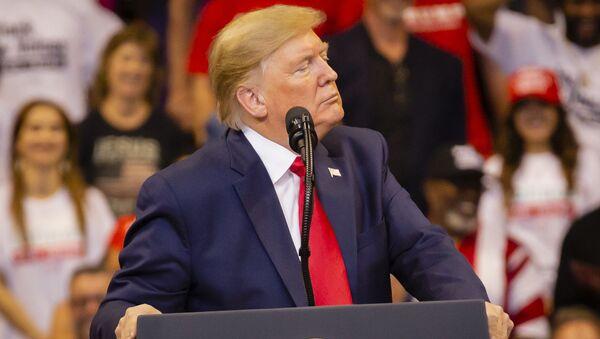 Donald Trump lors d'un meeting électoral (archive photo) - Sputnik France