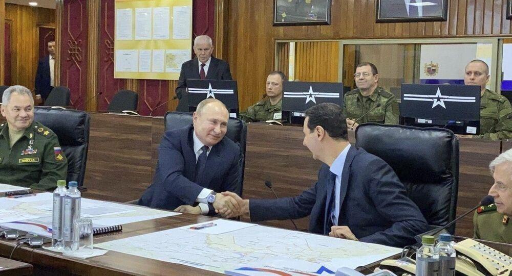 Poutine rencontre Assad à Damas