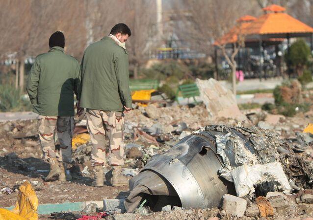 Lieu du crash du Boeing 737-800 en Iran