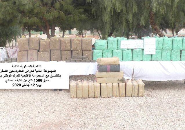 Saisie de plus d'une tonne et demi de cannabis par la gendarmerie nationale algérienne à Naâma