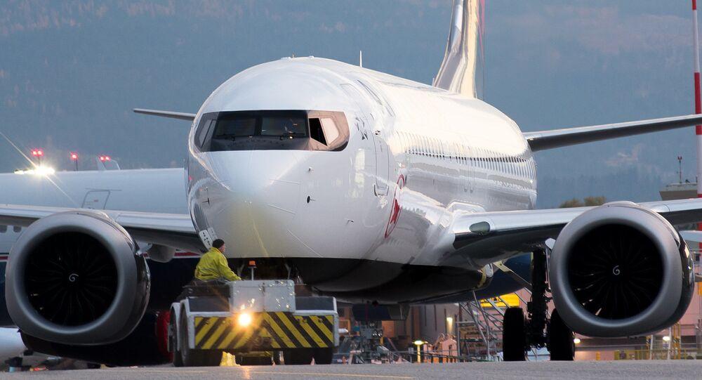 Un Boeing 737 MAX d'Air Canada