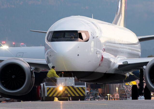 Un Boeing 737 MAX d'Air Canada, image d'illustration
