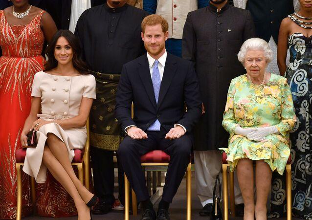 Prince Harry, Meghan Markle et la reine Elizabeth II