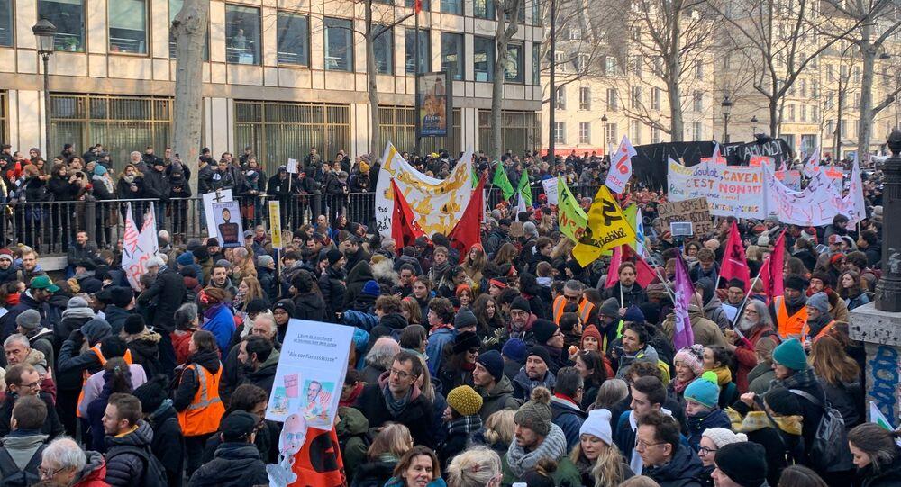 Une journée de mobilisation contre la réforme des retraites à Paris (photo d'archives)