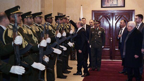 Рабочий визит президента РФ В. Путина в Государство Палестина - Sputnik France