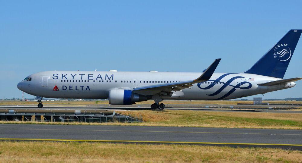 Un Boeing 767-300 de Delta Air Lines à Paris