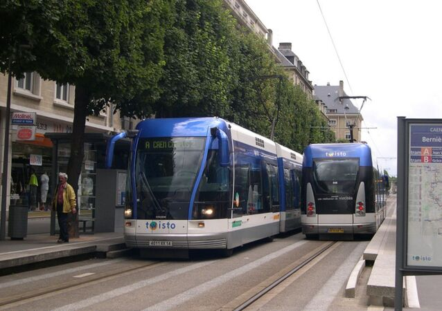 Tramway à Caen