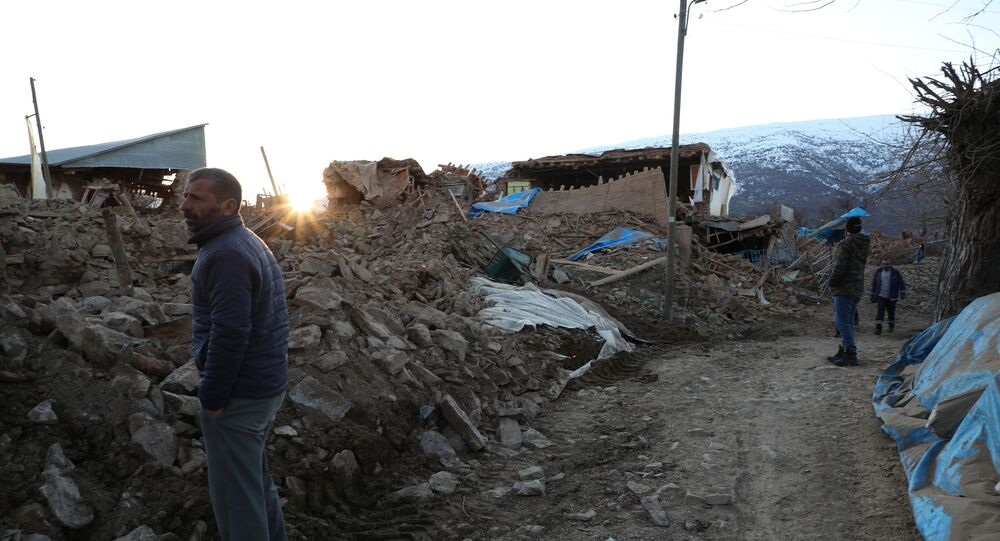 Un village détruit