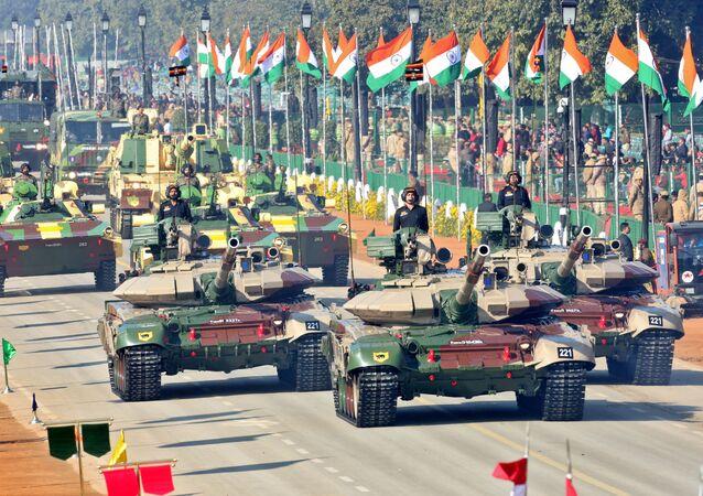 Défilé militaire à l'occasion du Jour de la République en Inde