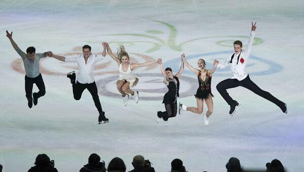 Les patineurs russes Dmitry Aliev, Nikita Katsalapov, Viktoria Sinitsina, Alena Kostornaya, Alexandra Boykova et Dmitry Kozlovsky à Graz - Sputnik France