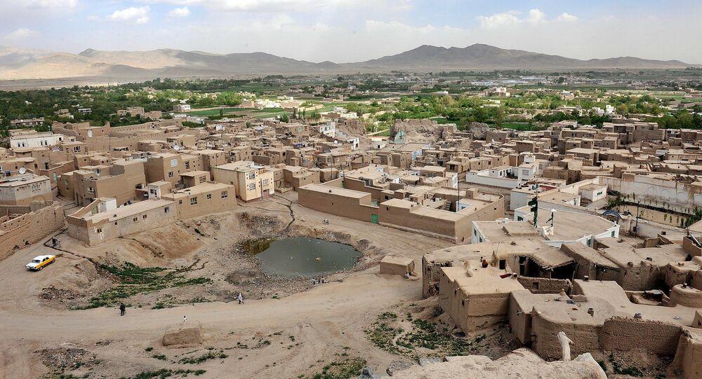 La ville de Ghazni, capitale de la province homonyme